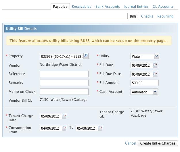Ratio Utility Billing System Rubs Appfolio