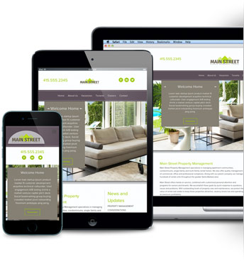 Property Management Websites across devices