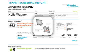 Resident Screening Report